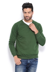 HRX Men Green Challenger Sweatshirt