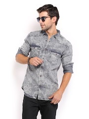 HRX Men Grey Casual Shirt