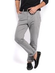 HRX Men Grey Chino Trousers