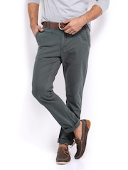 HRX Men Grey Chino Trousers