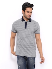 HRX Men Grey Melange Printed Polo T-shirt