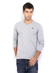 HRX Men Grey Melange T-shirt