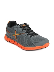 HRX Men Grey and Orange Sports Shoes