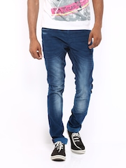 HRX Men Blue Skinny Fit Trousers