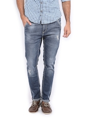 HRX Men Blue Carrot Fit Jeans