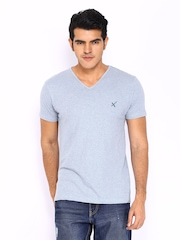 HRX Men Light Blue T-shirt