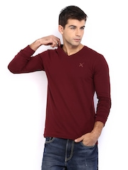 HRX Men Maroon T-shirt