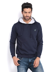 HRX Men Navy Hooded Sweatshirt