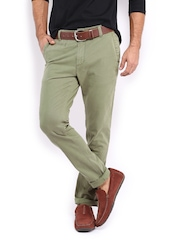 HRX Men Olive Green Chino Trousers