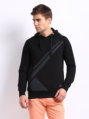 HRX Men Black Xtreme Hooded Sweatshirt