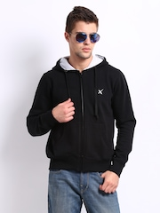 HRX Men Black X Hooded Sweatshirt