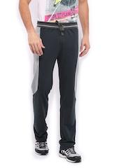HRX Men Sports Active Navy & Grey Warm Up Track Pants
