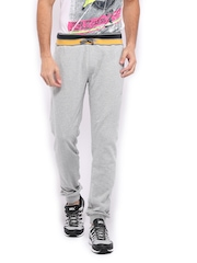 HRX Men Sports Active Grey Melange Lounge Track Pants
