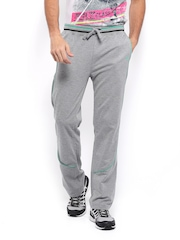 HRX Men Grey Melange Track Pants