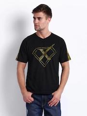 HRX Men Black Printed T-shirt