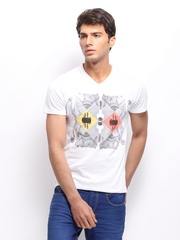 HRX Men White Printed T-shirt
