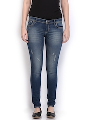 HRX Women Blue Indigo Dyed Skinny Fit Jeans