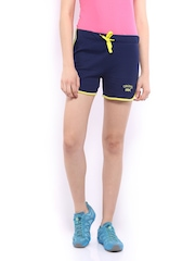 HRX Women Navy Sports Shorts