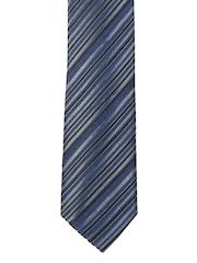 Hakashi Dark Blue & Grey Striped Tie
