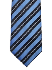 Hakashi Men Blue Striped Tie