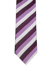 Hakashi Purple & Grey Striped Tie