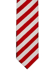Hakashi Red & Beige Striped Tie