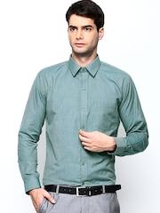 Hancock Green Slim Fit Formal Shirt