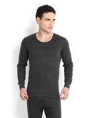 Hanes Men Grey Melange Thermal T-shirt