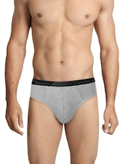 Hanes Men Mushroom Brown Premium Bikini Briefs P103