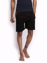 Hanes Men Black Lounge Shorts MPO11-002-CP