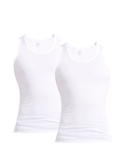 Hanes Men White Innerwear Vest C110