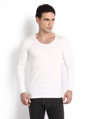 Hanes Men White Thermal T-shirt