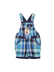 Happy Face Boys Blue Checked Dungarees