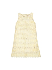 Happy Face Girls Cream Coloured Shift Dress