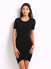 Harpa Women Black Jersey Dress
