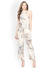 Harpa Women Cream Coloured Printed Jumpsuit