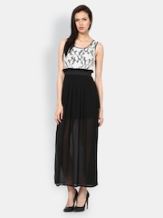 Harpa Off-White & Black Maxi Dress
