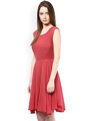 Harpa Pink Fit & Flare Dress