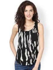 Harpa Women Black & White Printed Top