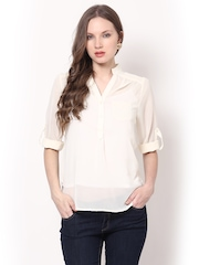 Harpa Women Cream Coloured Top