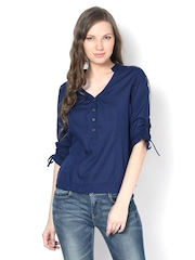 Harpa Women Navy Blue Top