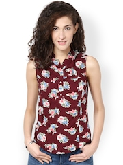 Harpa Women Maroon Printed Top