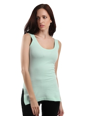 Heart 2 Heart Women Light Blue Thermal Tank Top