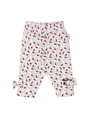 Hello Kitty Girls White Printed Leggings