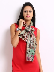 Hi look Unisex Multi-Coloured Printed Scarf