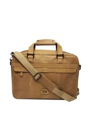 Hide Craft Men Brown Leather Laptop Bag