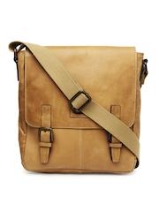 Hide Craft Men Tan Brown Leather Messenger Bag