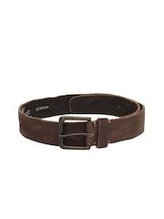 Hide Craft Men Brown Leather Belt
