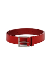 Hide Craft Men Red Leather Belt