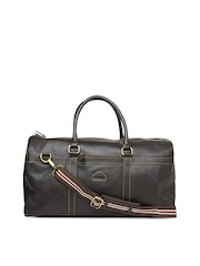 Hide Craft Men Brown Leather Duffle Bag